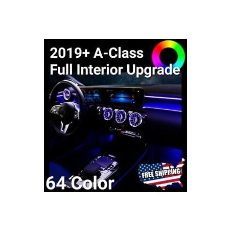 KIT LED ILLUMINAZIONE AMBIENT Mercedes Classe A W177 CLA W118 GESTIONE OBD ORIGINALE