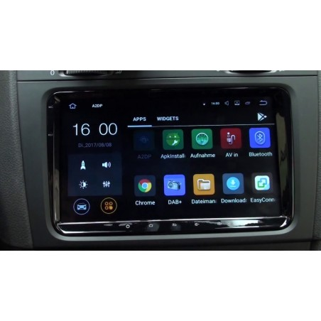 "AUTORADIO NAVIGATORE 9"" VOLKSWAGEN SKODA E SEAT ANDROID 9.0 4G FULL HD DAB"