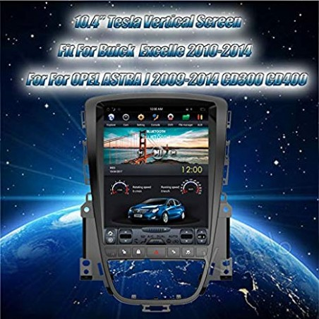 "NAVIGATORE TESLA STYLE X  OPEL ASTRA J  DAL 2009 AL 2013 SCHERMO 10,4"" VERTICALE FULL TOUCH"